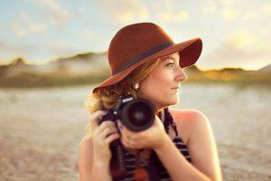Jen holding camera