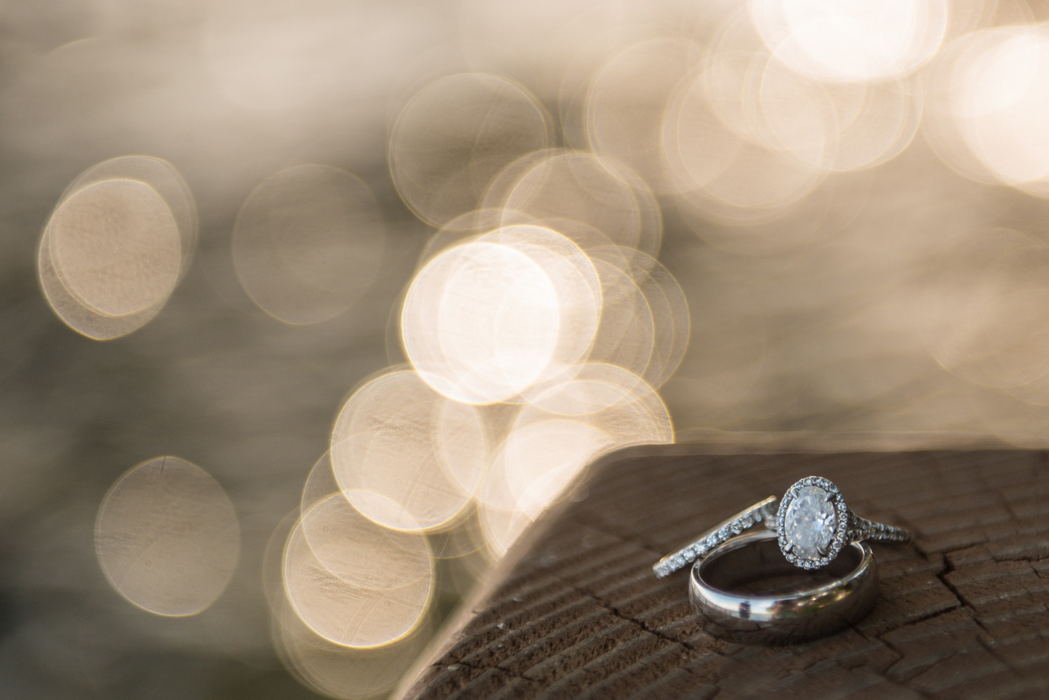ring with bokeh