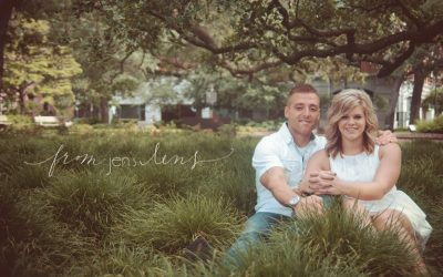 River Street & Reynolds Square | Savannah Engagement Photographer | Nick & Kaci